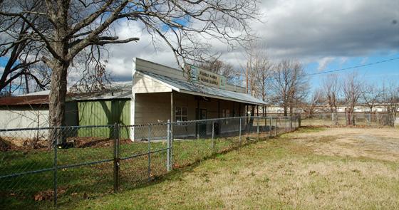 abandoned farm supply store