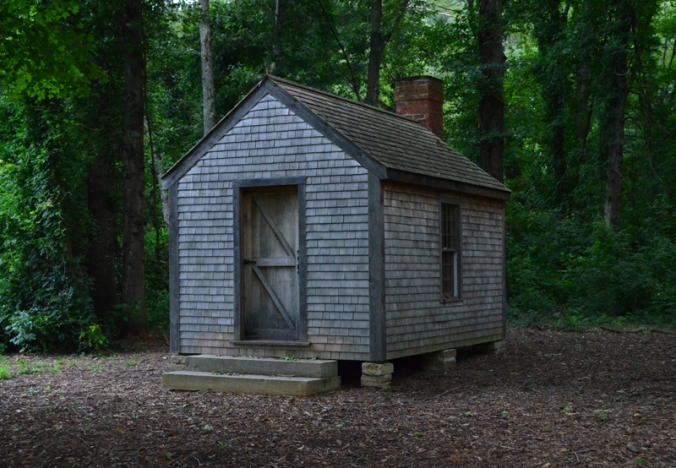 replica of the walden cabin