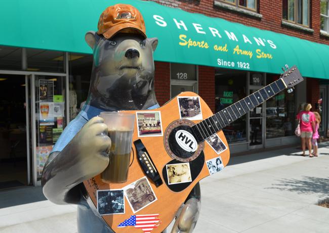 hendersonville, nc bear drinking beer