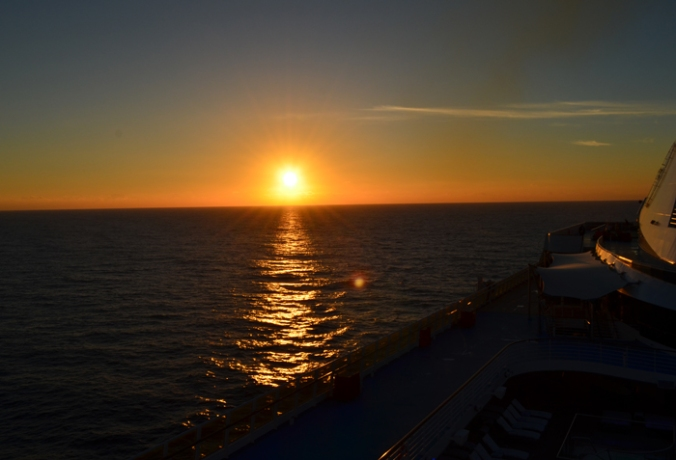 sun set on the med
