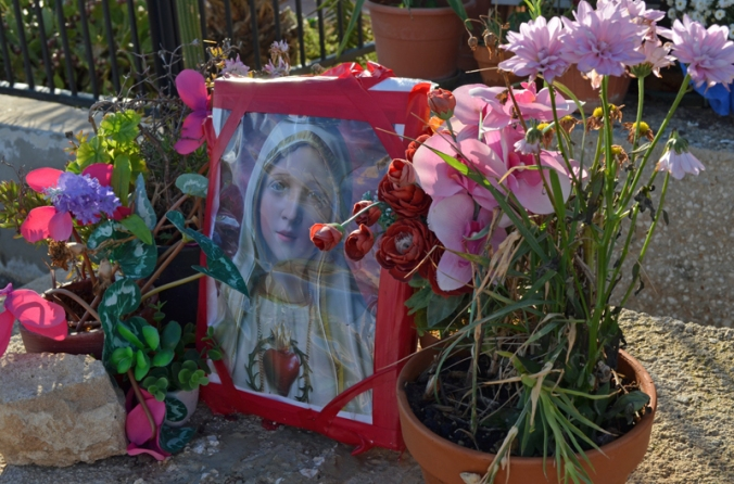a shrine to Mary in Trapani